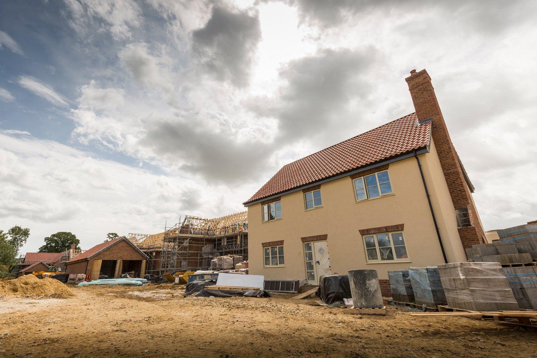 Housing development in Burgh Apton