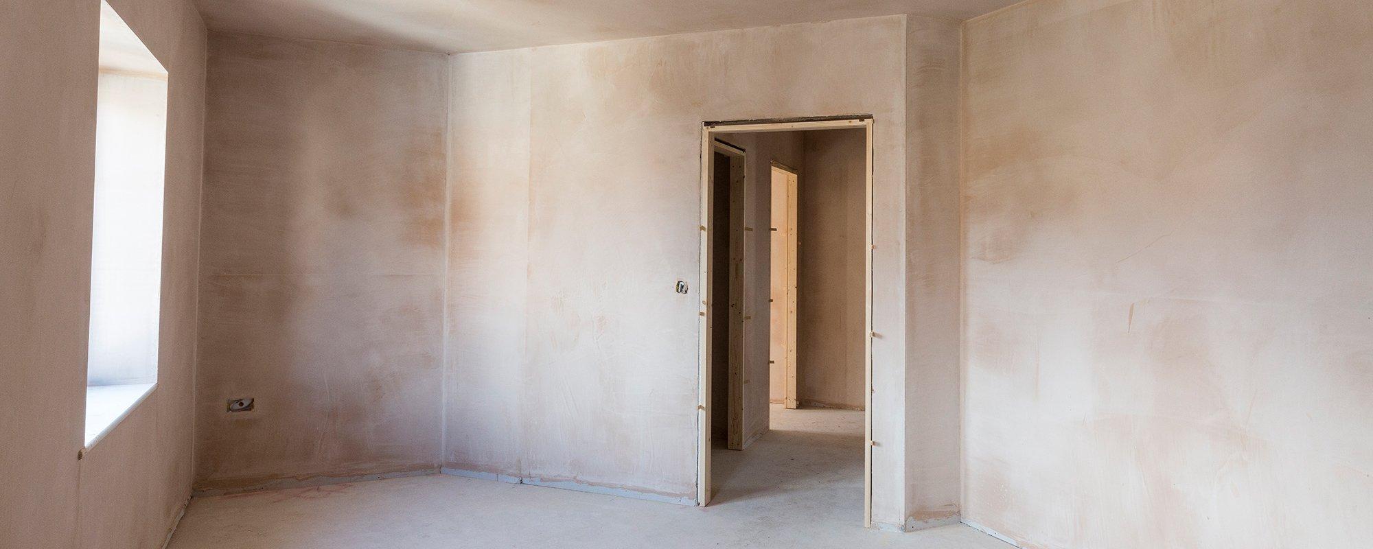 Plastering residential development